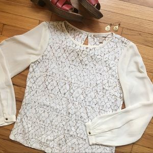 Banana Republic floral lace blouse, petite small